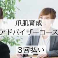 【オンライン受講3回払い】爪肌育成アドバイザー資格 コース