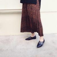 レオパード柄 プリーツスカート