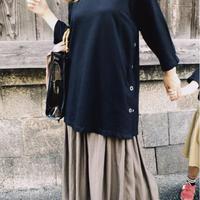 サテン風 ロングスカート