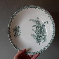 """4.St.amand フランスアンティーク """"MUGUET"""" すずらん スープ皿"""
