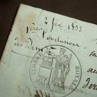 アンティーク古文書 フランス 手書き c-272