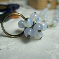 アンティークガラスの指輪 ia-1
