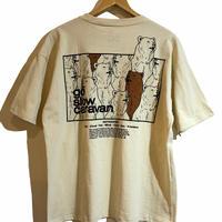 go slow caravan (ゴースローキャラバン)USA/C スクエアLOGO バックプリントゆったりTEE クマ (MENS)
