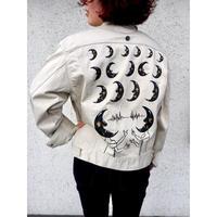 手描き【月と鏡】Lサイズ Lee