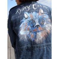 手描き【Blue DC】汚い猫シリーズ