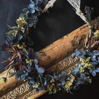 アジサイと リューカデンドロンの花冠