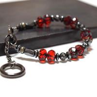 アルクス チェコガラス シングルブレス〈ブラッド〉''ARCUS czechglass single bracelet(BLOOD)''