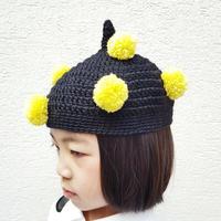 ポンポン帽子(こども)YELLOW