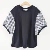 プルオーバービッグシャツ(こども)BLACK(ギンガムチェック)