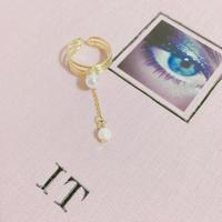 vintage pearl charm ring