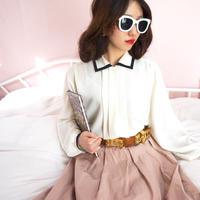 vintage monotone chifon blouse