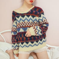 vintage multi color  knit