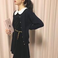 vintage rose button knit cardigan