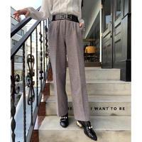 vintage checked slacks