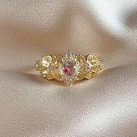 Crown motif  ring
