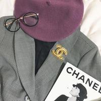 vintage  CHANEL coco mark brooch
