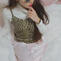 vintage leopard velour camisole