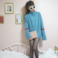 select candy color line knit