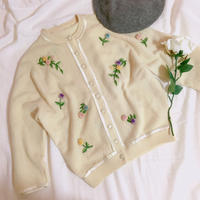 vintage  rose  knit cardigan