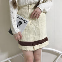 vintage  gold button line skirt