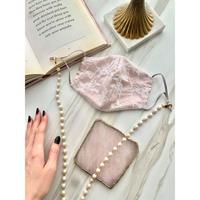 Marie Antoinette カラーマスク&マスクチェーンset(rose pink)