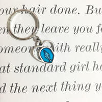 handmade heart charm ring