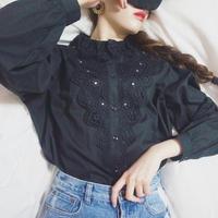 vintage lace cotton blouse