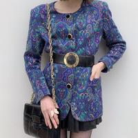 vintage velour button jacket