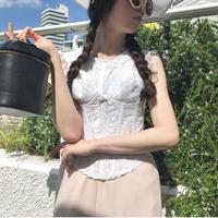 vintage corset 2piece tops