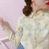 vintage flower  knit tops