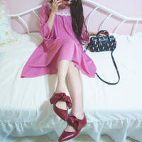 vintage rose pink chiffon one-piece