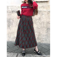 vintage checked  skirt