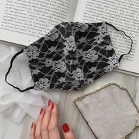 【受注販売❤︎ストーン無】 handmade black lace mask