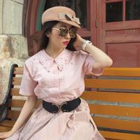 vintage rose design blouse
