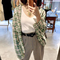vintage checked shirts(unisex item)