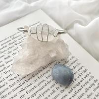 Stone bracelet(silver×crystal)
