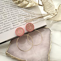 handmade CHANEL button 2way earrings