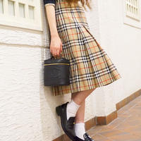 vintage BURBERRY checked skirt