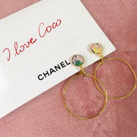 handmade multi color 2way foop earrings