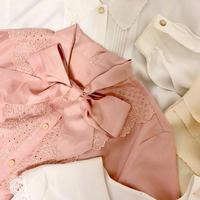 vintage flower cutting ribbon blouse