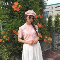 vintage double button  blouse