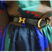 vintage HERMES Hlogo belt