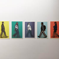 WALKING LONDON 1, LENTICULAR POSTCARD SET	/ Julian Opie