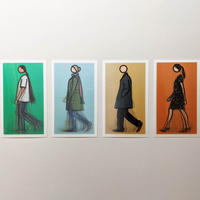 WALKING FIGURES 2, LENTICULAR POSTCARD SET	/ Julian Opie