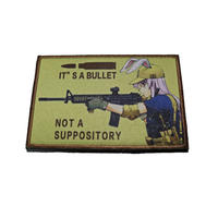 It's a bullet Not a suppository ベルクロワッペン