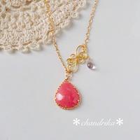 asian princess〜インカローズのワイヤーアートペンダント