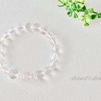 「純粋な愛」ガネーシュヒマール産水晶とピンクレムリアン水晶の浄化ブレスレット