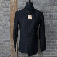 "early 20th c. deadstock french black work jacket  ""linen × cotton"""