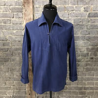 mid 20th c. french  marine cotton work blue pullover