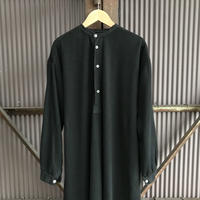 """mid 20th c. french vintage cotton henry """"black dyed"""""""